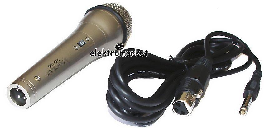 mikrofon Voice Kraft VK 105 i kabel mikrofonowy