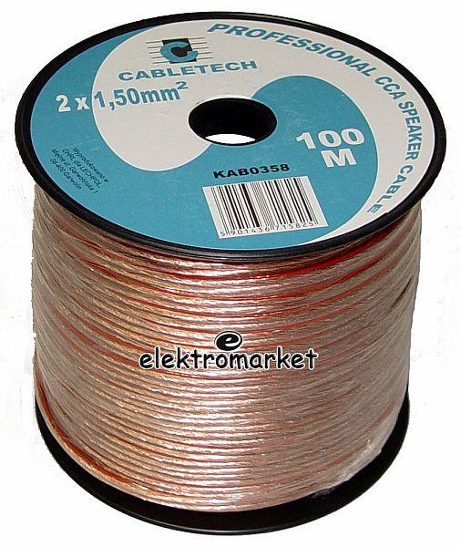 kabel głośnikowy 1,50 mm Cabletech KAB0358