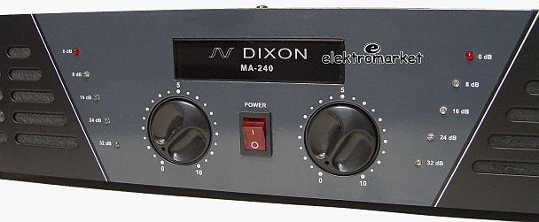 Wzmacniacz DIXON MA240 zbliżenie frontu