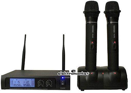 komplet mikrofonów bezprzewodowych do ręki VK-670